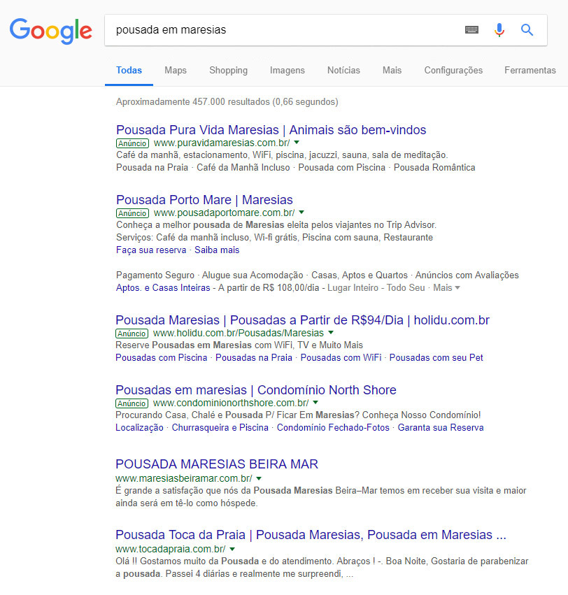 google-adwords-links-patrocinados-pousada-maresias-sp