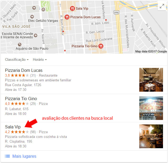 avaliacao-dos-clientes-na-busca-local Como conquistar clientes locais usando o SEO local