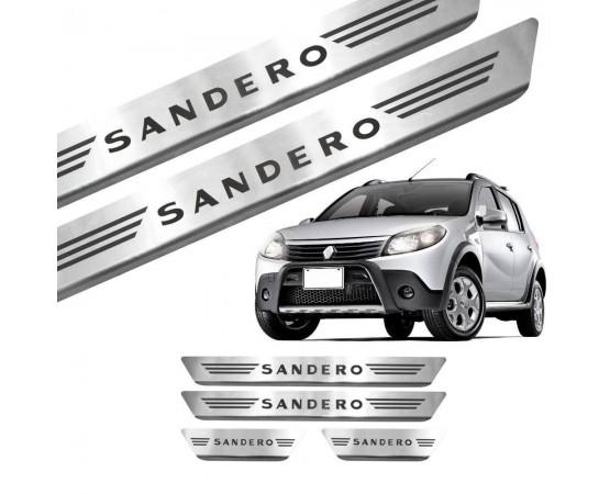 Soleira de Aço Inox Renault Sandero (GPI Automotive) por alfabetoauto.com.br