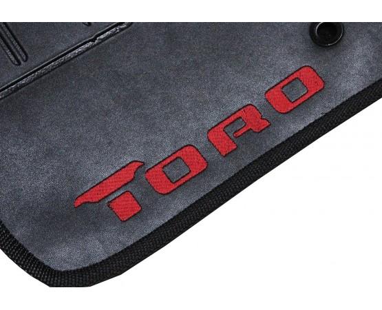 Tapete Fiat Toro Traseiro Inteiriço Preto Borracha (Alfabetoauto) por alfabetoauto.com.br
