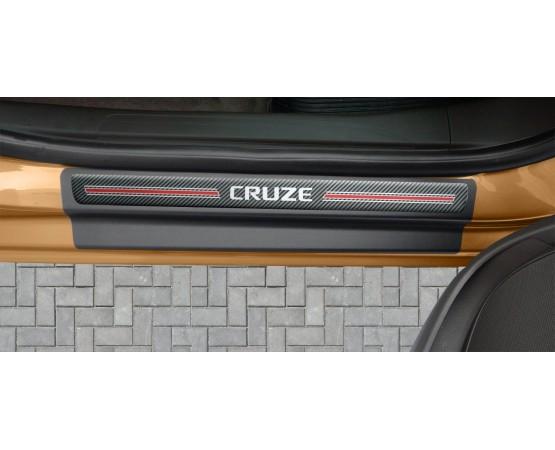 Soleira Premium Chevrolet Carbono 4P Cruze (NP Adesivos e Resinagem) por alfabetoauto.com.br