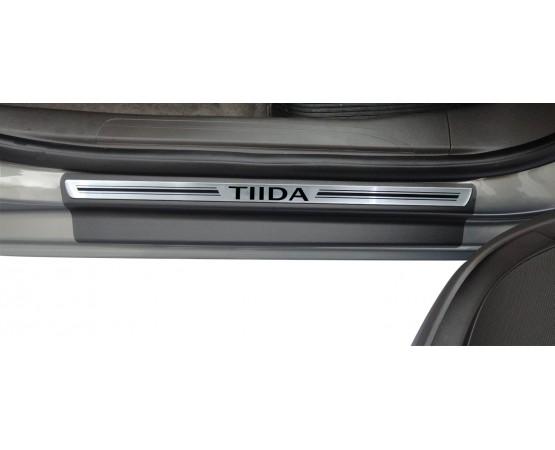 Soleira Premium Aço Escovado 4P Tiida (NP Adesivos e Resinagem) por alfabetoauto.com.br