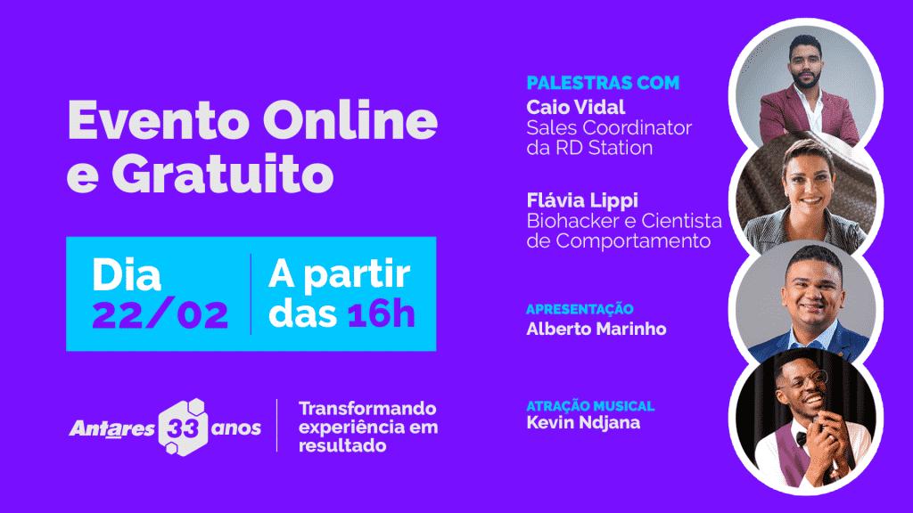 Aniversário de 33 anos da Antares Comunicação reuniu Flávia Lippi, Caio Vidal, Alberto Marinho e Kevin Ndjana