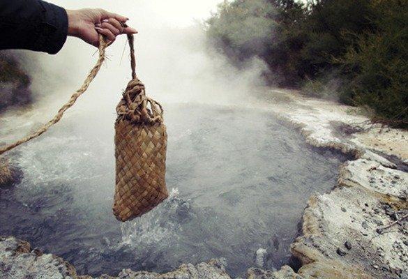Te Puia o vale geotermal de Rotorua cozinhar (1)