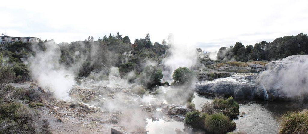 te puia rotorua nova zelandia landscape