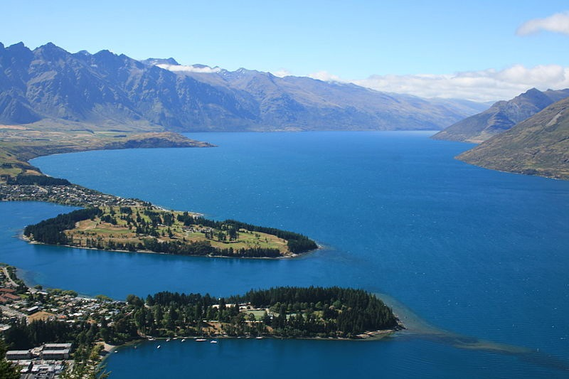 vista aerea de queenstown skyline roteiro em queenstown