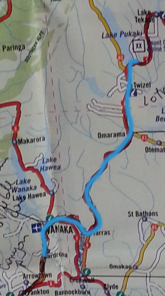 Rota Wanaka Lake Pukaki