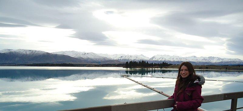 Rota Wanaka Lake Pukaki lago azul salmão