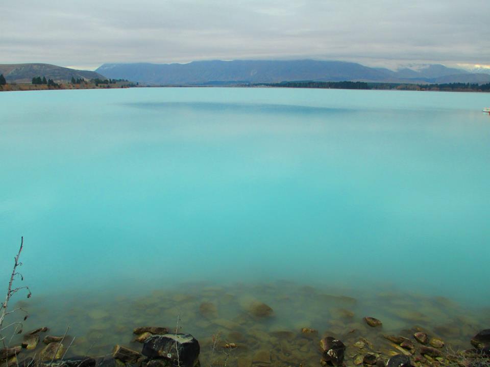 Rota Wanaka Lake Pukaki lago azul