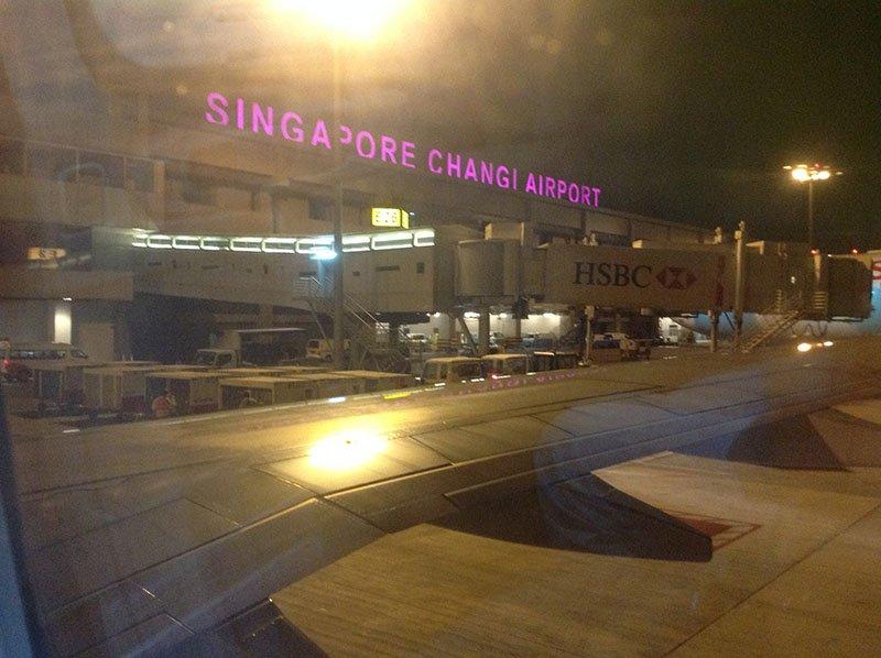 aeroporto cingapura changi avião