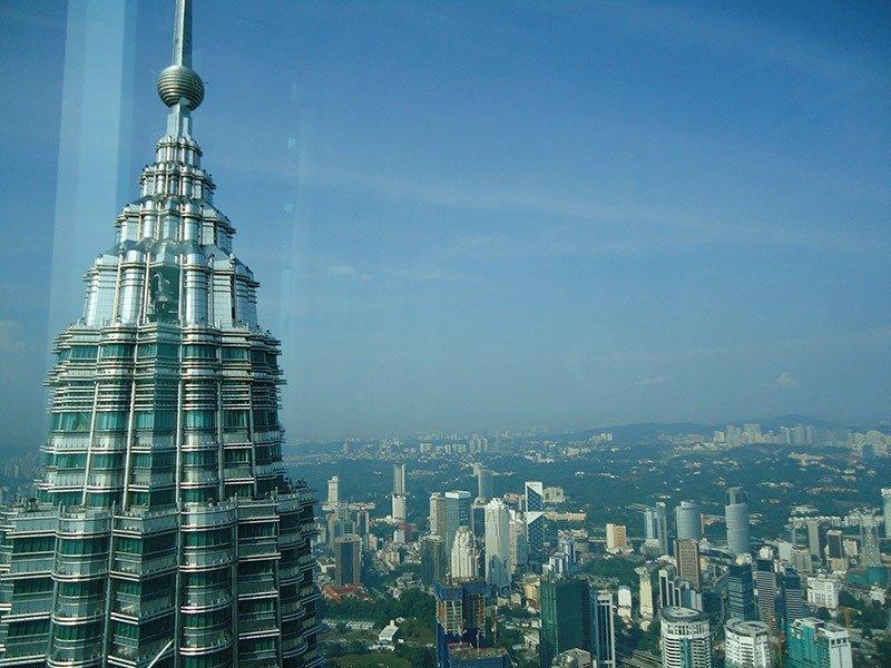 Atrações em Kuala Lumpur petronas towers vista 2