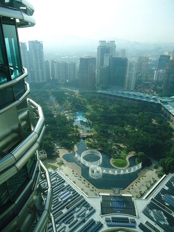Atrações em Kuala Lumpur petronas towers vista