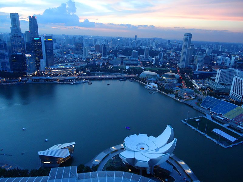 cingapura por do sol marina bay sands