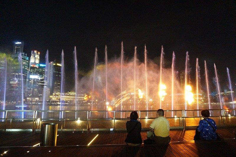 show de luzes gratis em cingapura
