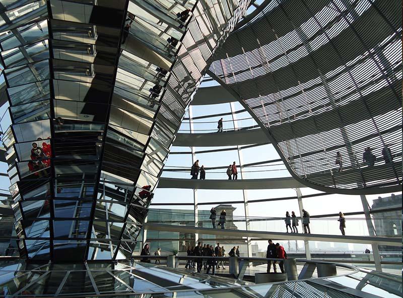 cupula do parlamento alemao berlim