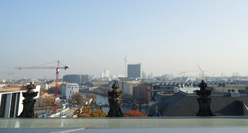 vista do topo do reichstag parlamento alemanha