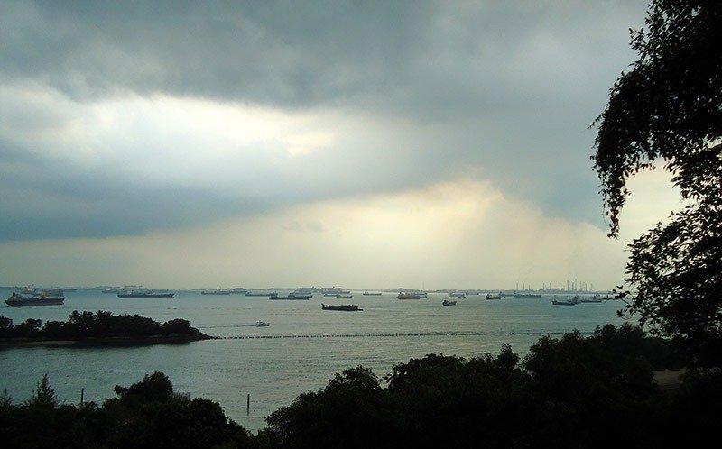 chuva tenebrosa em sentosa island