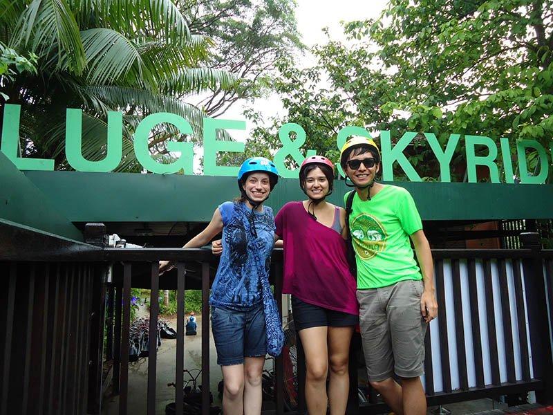 luge skyride em sentosa island cingapura