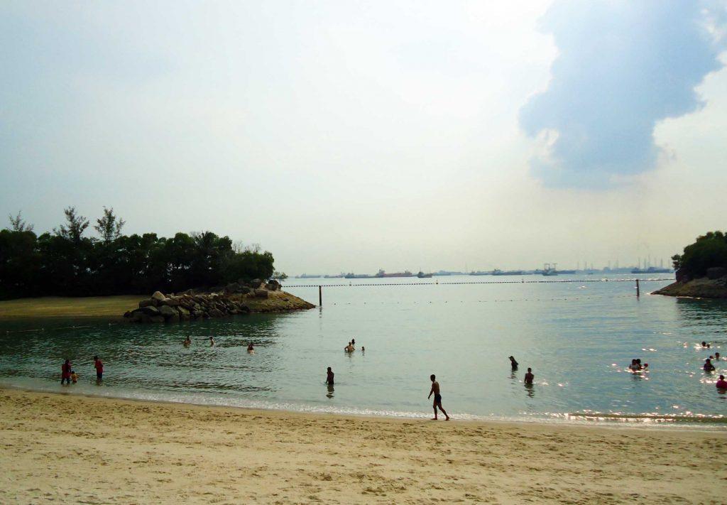 praia em sentosa cingapura