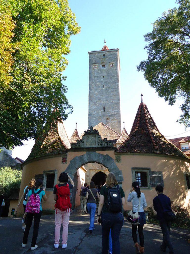 entrada de rothenburg ob der tauber