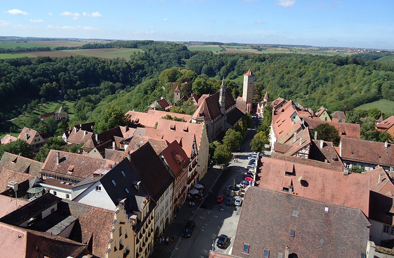 vista da igreja rothenburg ob der tauber verde