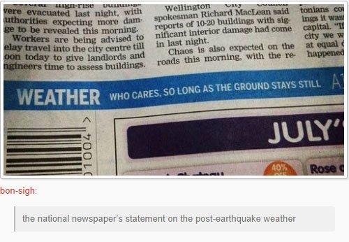fatos bizarros da Nova Zelândia jornais 1