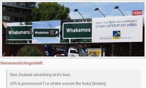fatos bizarros da Nova Zelândia propaganda 2