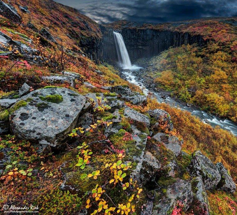 fotos para amar a Islândia Litlanesfoss cachoeira basalto svartifoss cor