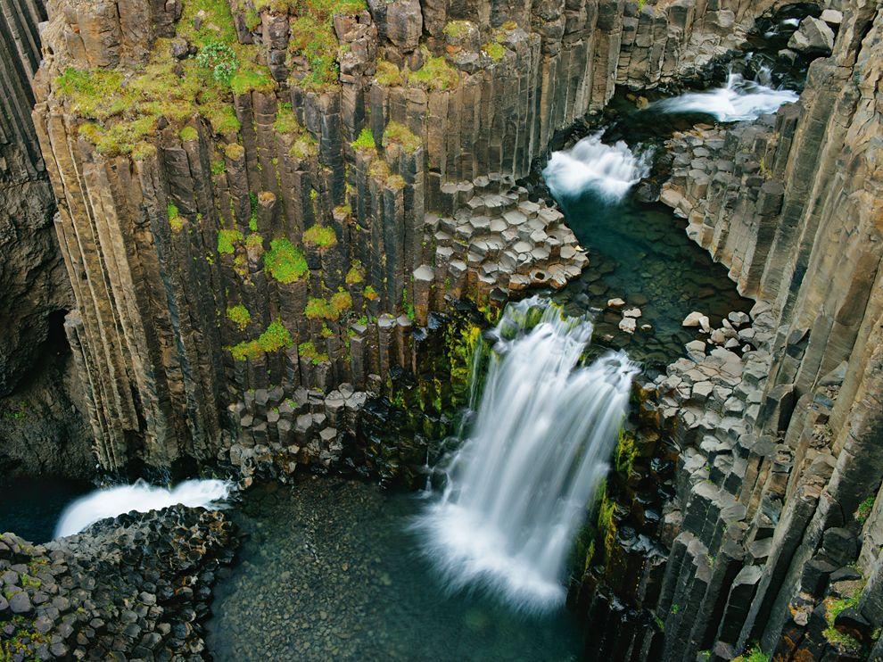 fotos para amar a Islândia Litlanesfoss cachoeira basalto