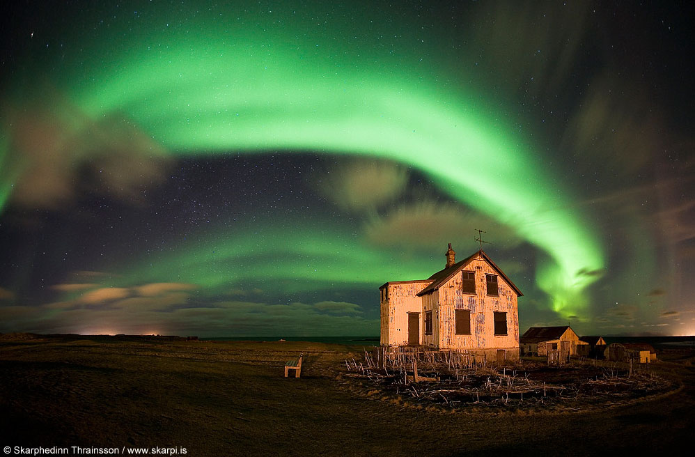 fotos para amar a Islândia aurora boreal skarpi
