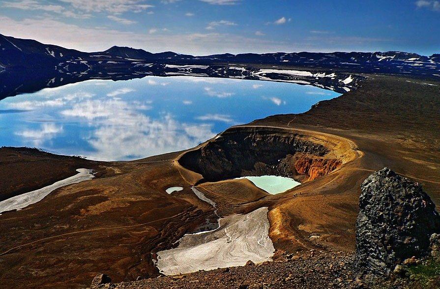 fotos para amar a Islândia cratera askja