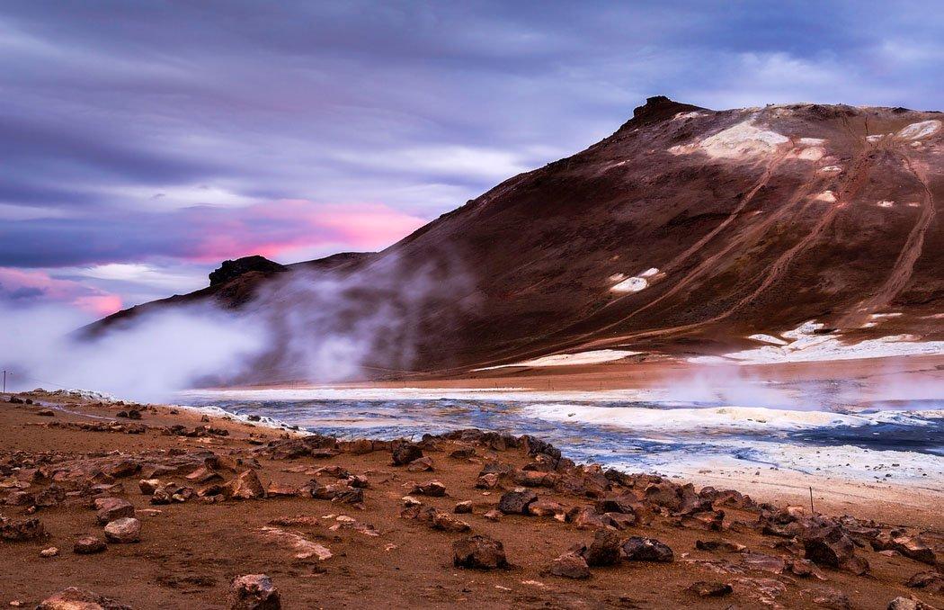 fotos para amar a Islândia cratera krafla Hverir geotermal