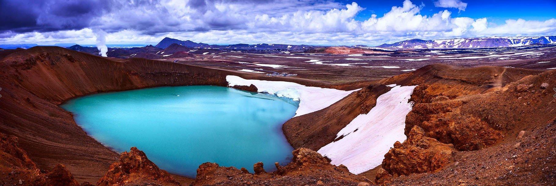 fotos para amar a Islândia cratera krafla viti
