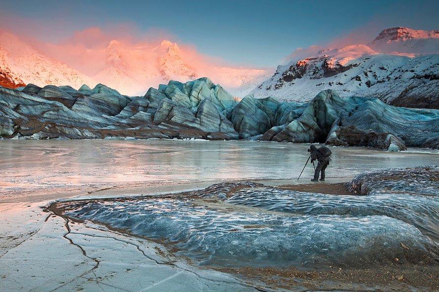 fotos para amar a Islândia icebergs flutuantes Hrútfjallstinda