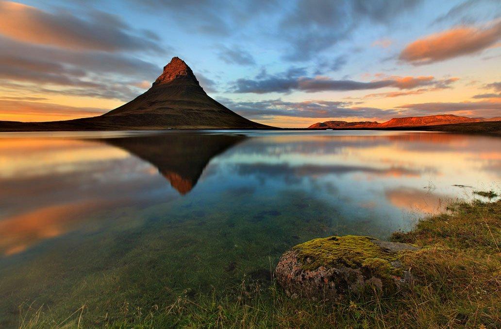 fotos para amar a Islândia por do sol da meia noite