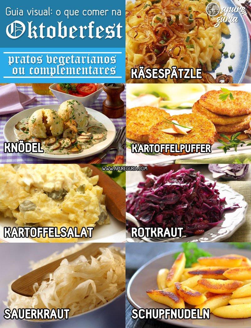 guia visual o que comer na oktoberfest pratos vegetarianos ou complementares
