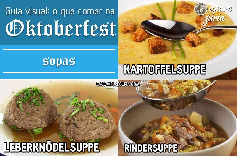guia visual o que comer na oktoberfest sopas
