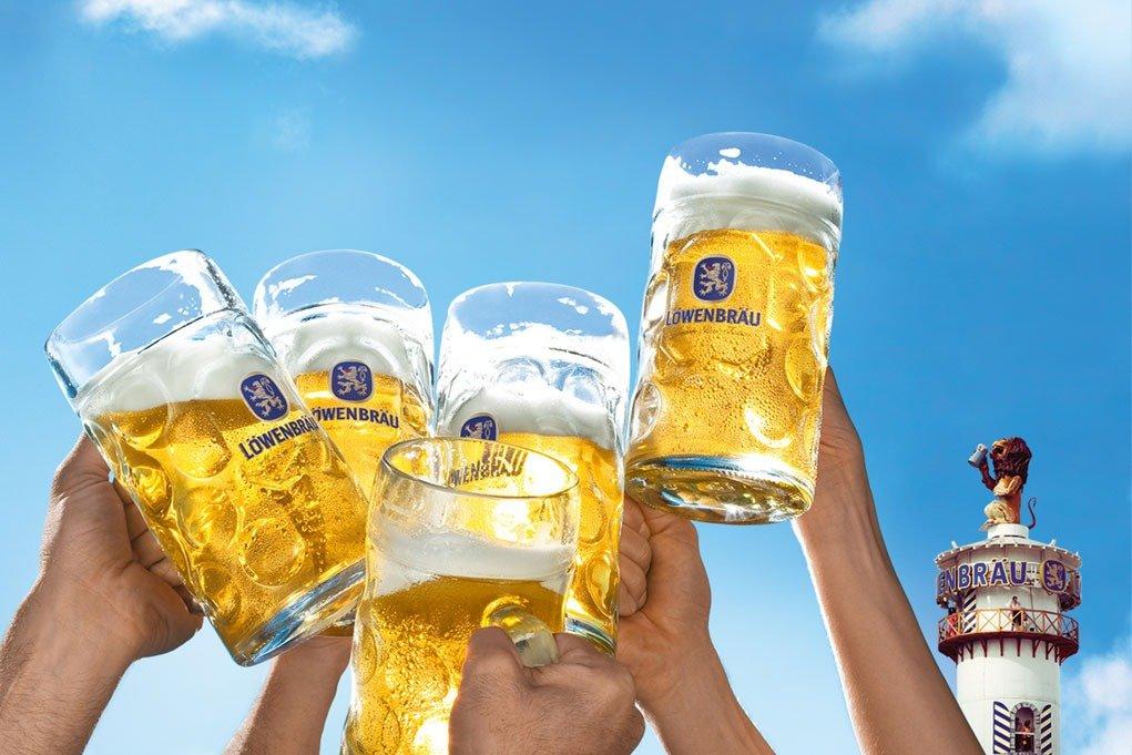 guia visual o que tomar na oktoberfest cervejas lowenbrau