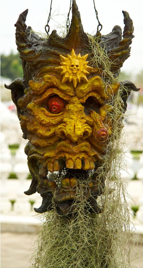templo branco Tailândia wat Rong Khun demonio