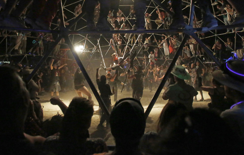 thunderdome fight burning man