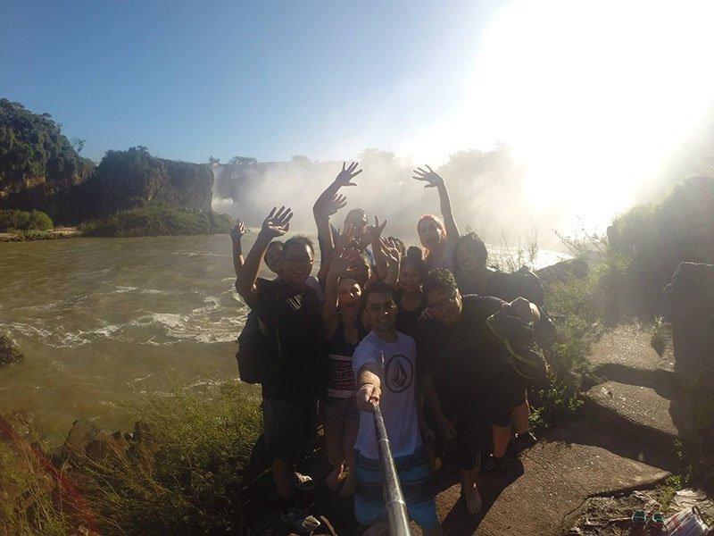 Mitando no Aventura Náutica nas Cataratas do Iguazú galera