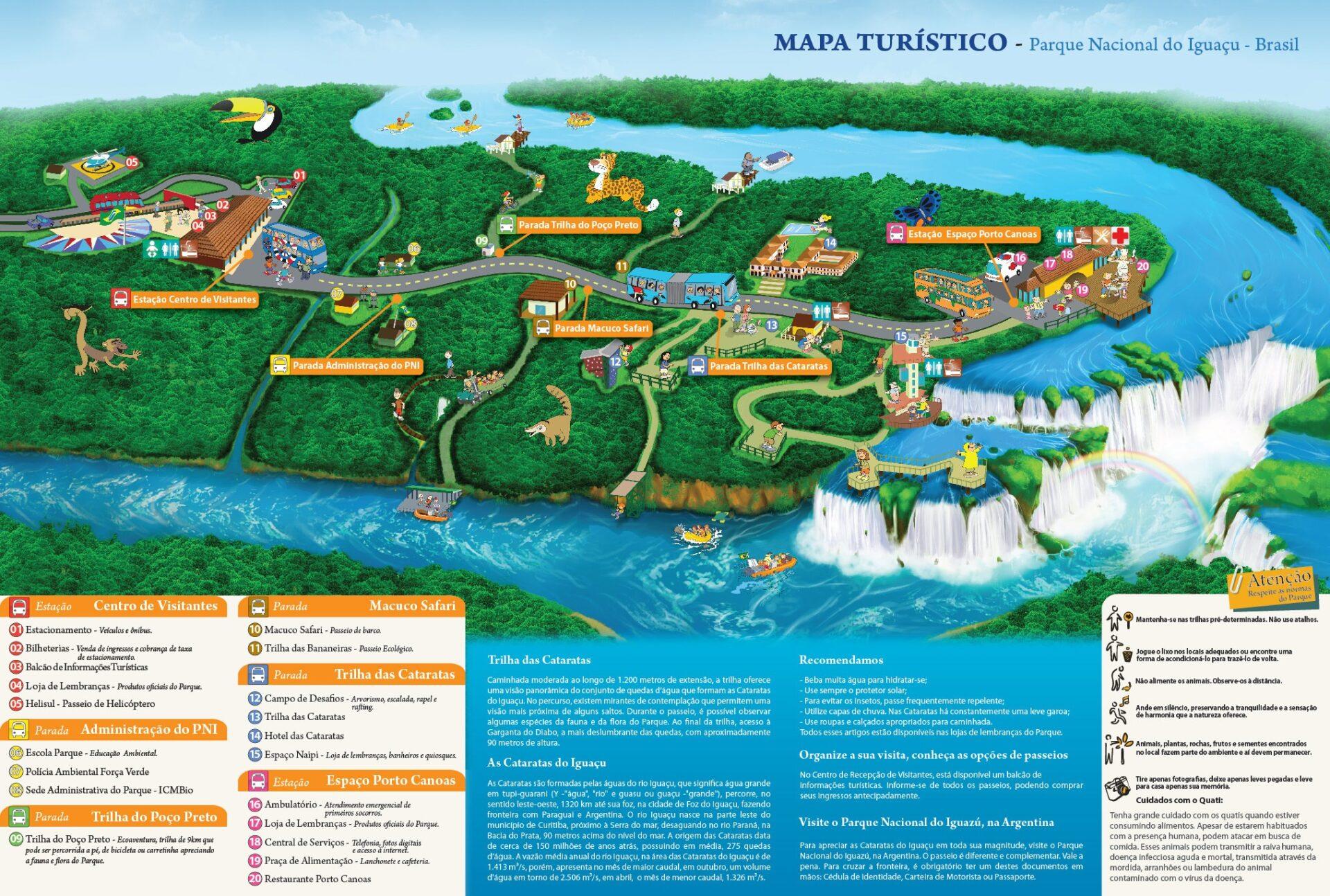 mapa cataratas do iguaçu brasil