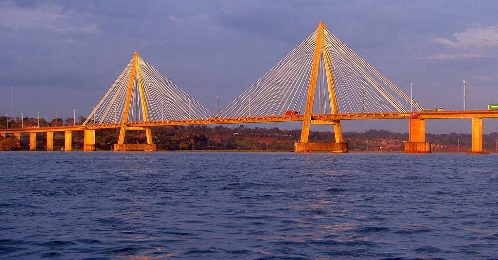 Ponte internacional San Roque Gonzalez de santa Cruz - ligação entre Posadas - Argentina e Encarnación - Paraguay