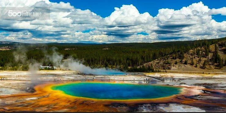 Grand Prismatic Spring zeller 20 lugares surreais que você não vai acreditar que existem