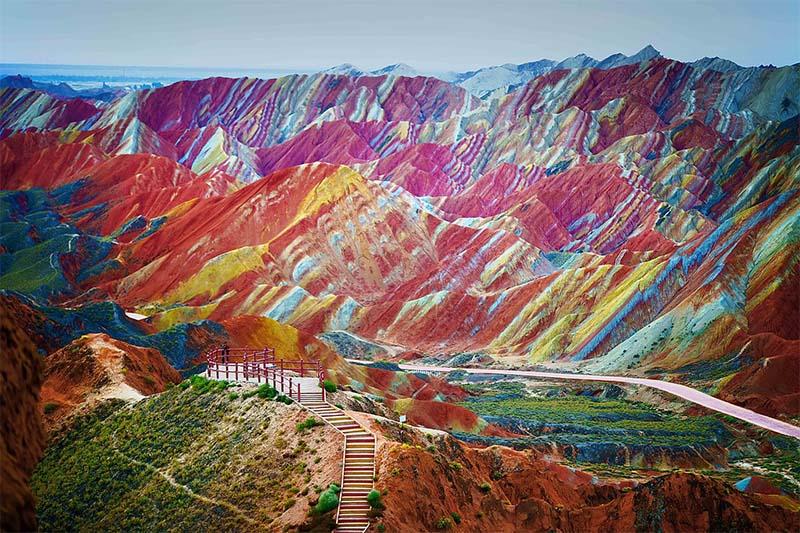 Zhangye Danxia huff 20 lugares surreais que você não vai acreditar que existem