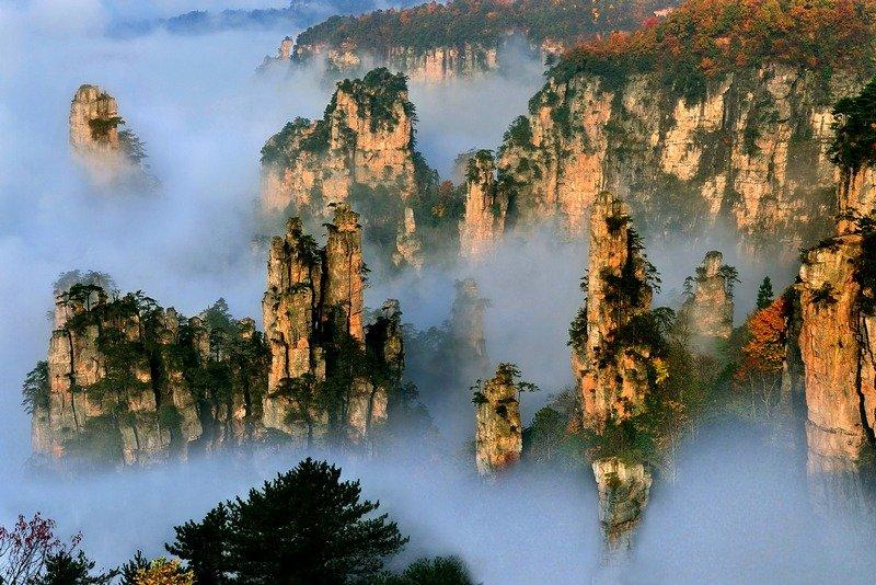 tianzi mountains china 2 20 lugares surreais que você não vai acreditar que existem