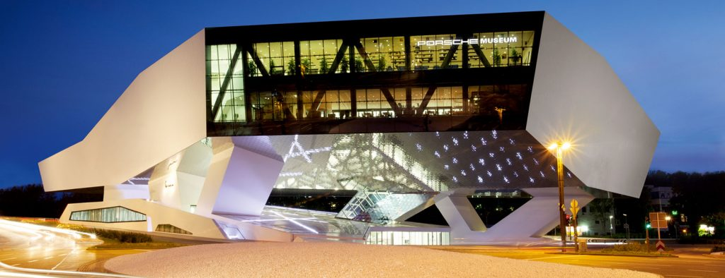 porsche museum arquitetura