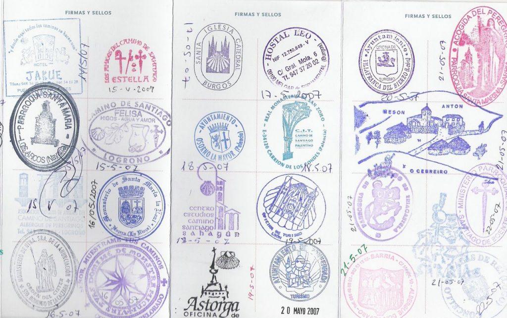 10 carimbos legais para o seu passaporte stamp cool caminho de compostela espanha spain