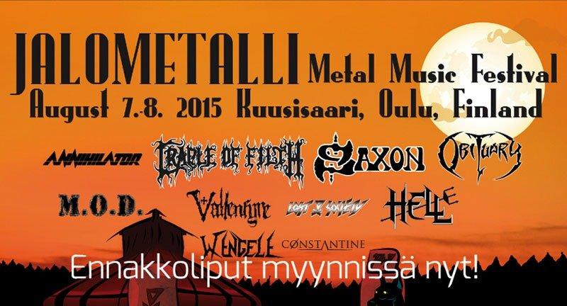 Festivais na Finlândia metal, verão e floresta jalometalli