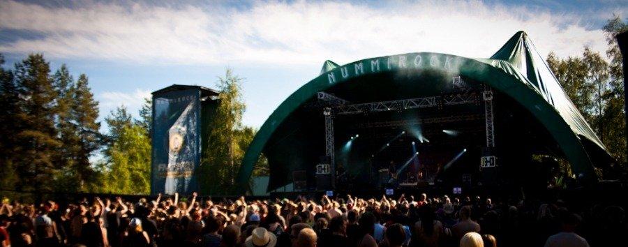 Festivais na Finlândia metal, verão e floresta nummirock